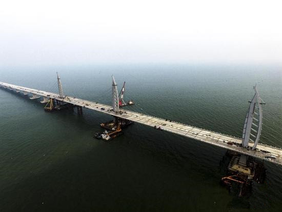 World's longest cross-sea bridge one step closer to completion-www.bzwz.comAoke Co., Ltd.